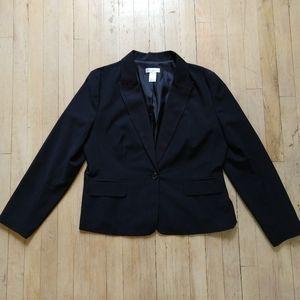 Isaac Mizrahi wmns tux look jacket,sz XL, black